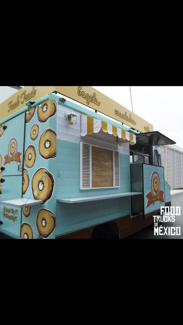 Bagel City de la cadena de Bagel Haus de Merida es un Food Truck que opera en el DF. Buscalo!! Food Trucks de Mexico.