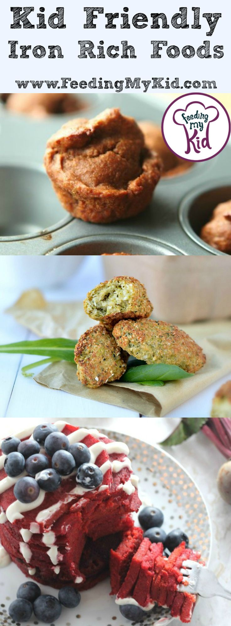 Kid Friendly Iron Rich Foods - You're body needs iron to work properly, but unfortunately sometimes adults and children don't get enough iron in the foods they eat. There are plenty of ways to get the iron you need. Does your kid need a little more iron in his diet? Try these kid friendly iron rich foods! From easy spinach artichoke quiche cups to cream cheese and parmesan asparagus.