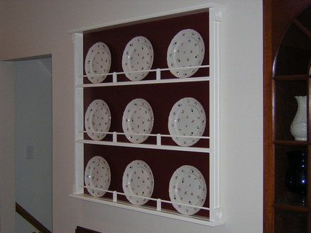Plate Display Rack - first project I ever built & 8 best Plate display rack images on Pinterest | Dish display Plate ...