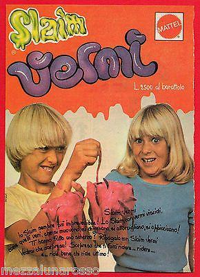 Pubblicità Advertising Werbung MATTEL 1978 SLAIM VERMI