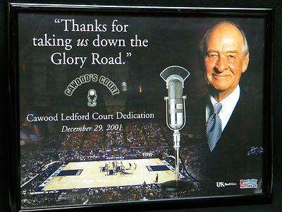 University Kentucky Basketball 2001 CAWOOD LEDFORD Court Dedication Framed Item