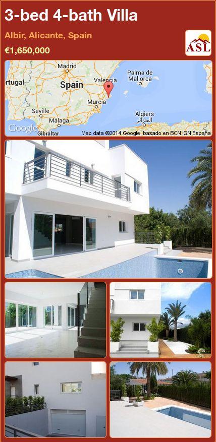 3-bed 4-bath Villa in Albir, Alicante, Spain ►€1,650,000 #PropertyForSaleInSpain
