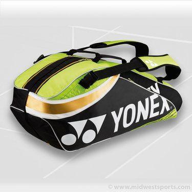 Yonex bags, Yonex 2013 Pro Series Lime 6 Pack Tennis Bag BAG9326_LG