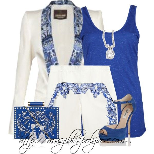 Shorts Suit, created by mssgibbs on Polyvore