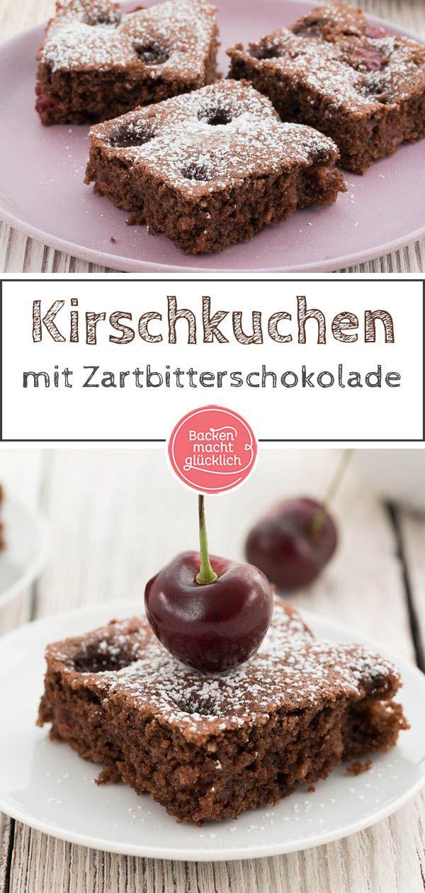 Saftiger Schoko Kirsch Kuchen Rezept In 2020 Schoko Kirsch Kuchen Saftiger Schoko Kirsch Kuchen Schoko Kirsch Blechkuchen