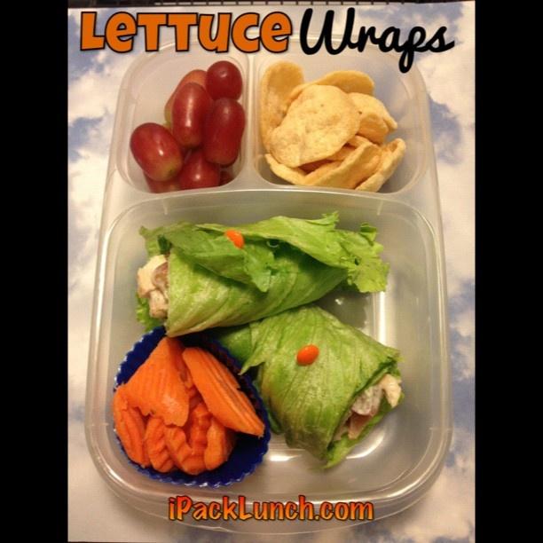 Lettuce wraps, great idea for Clara.