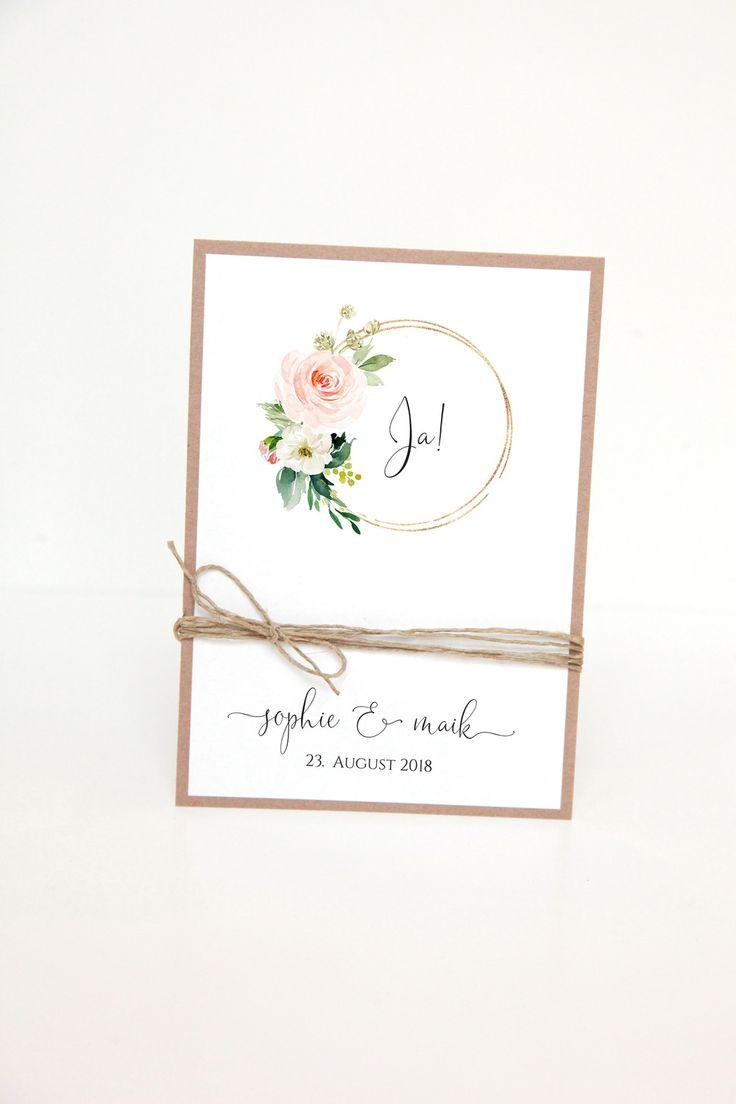 Einladungskarten – Einladung Hochzeit – DIY Kit – S&M2 – ein Designerstück von …
