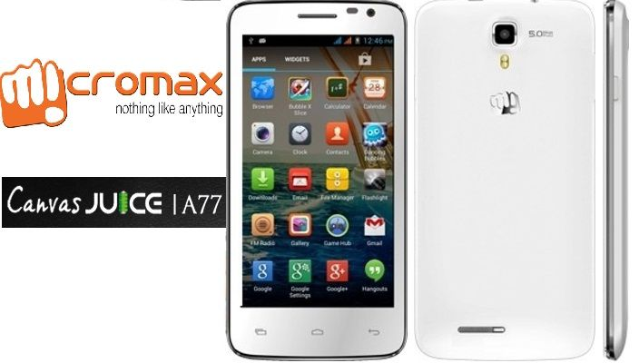 Micromax A77 Canvas Juice – A budget Phone with best Battery