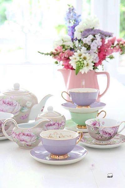 A most elegant afternoon tea setting.