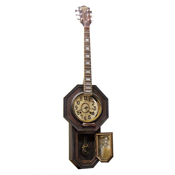 Clock Guitar  Gothic art  http://heavenscafe.net/?mode=grp=176750