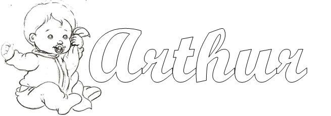 Fofurinhas da Vivi - Nome Arthur