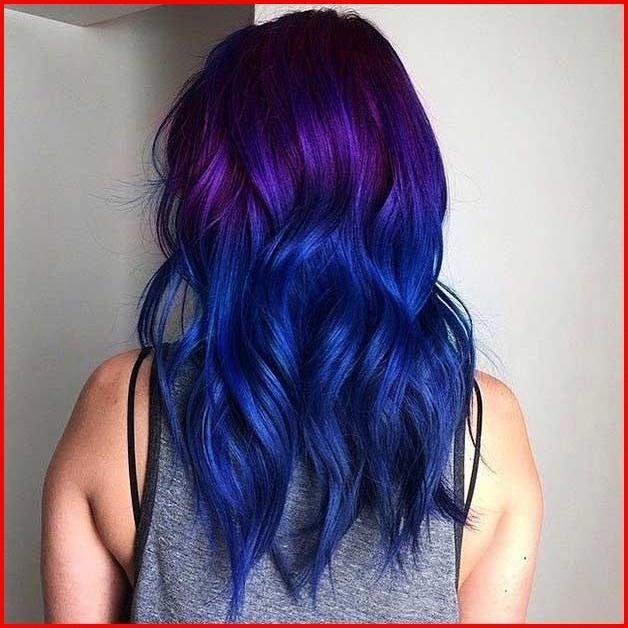 Lila haare blau Bunte Blau