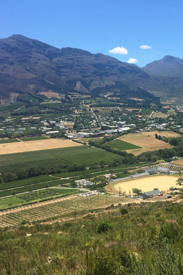 Franschhoek, aka South Africa's answer to the Hollywood Hills.