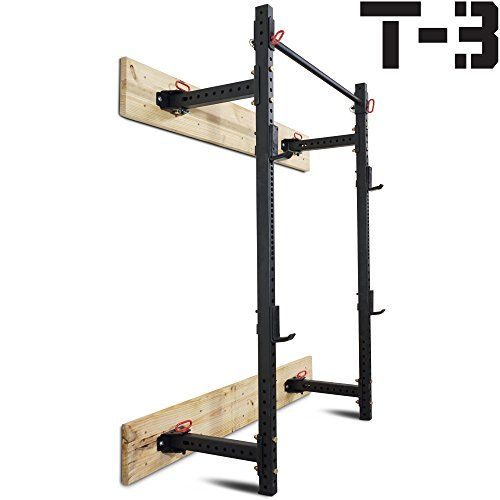 Titan Fitness T3 Series Fold Back Power Rack 215 Deep Laser Cut Wall Mount * To view further for this item, visit the image link. (Note:Amazon affiliate link)
