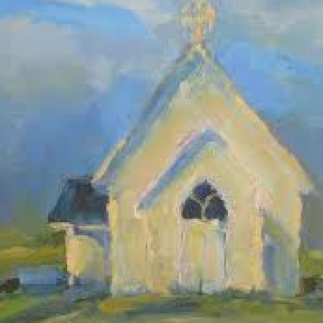 I want to paint an abstract scene with a church in it. What you think?