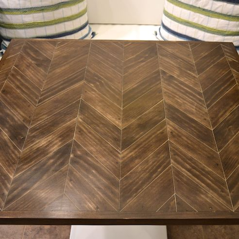 Stained Chevron Wood Table Top