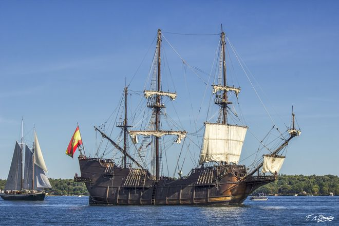 Spanish Galleon Replica, Tall Ships Festival .. Brockville, ON, Canada ... by Fiona M. Donelly