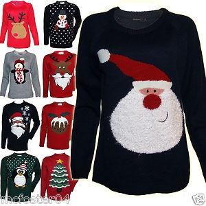 ladies mens girls boys christmas jumper sweater ladies 6. Black Bedroom Furniture Sets. Home Design Ideas