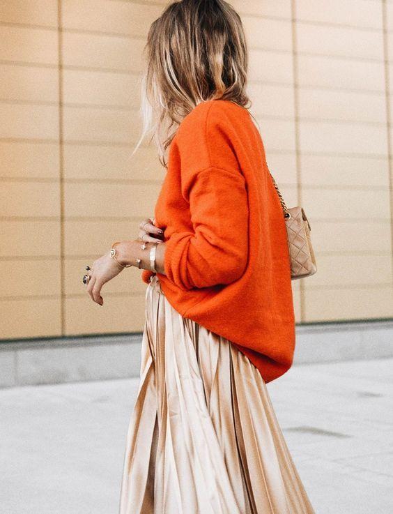 Contre toute attente, l'orange sied bien au doré light ! (photo Lisa Olsson)