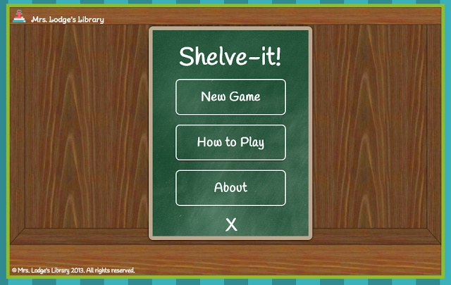 Shelve it library game. Play on computer or Smart board!