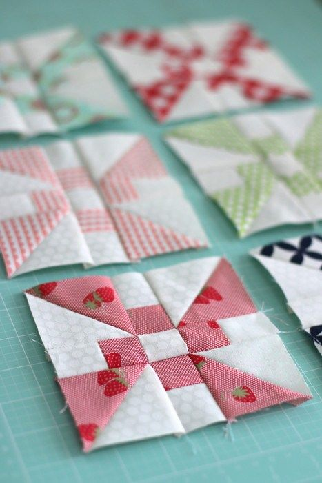 The July quilt block is this Propeller block. You can find the link to the downloadable pattern here.
