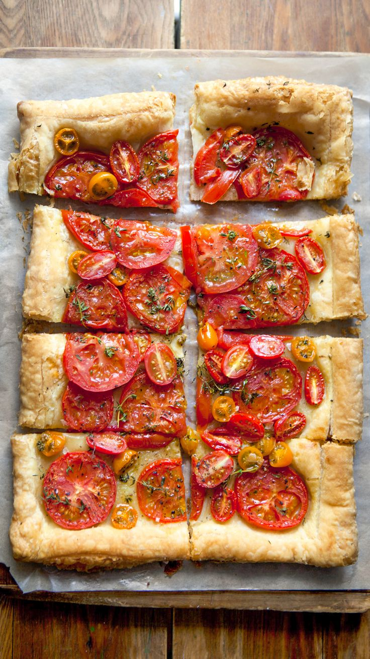 Simple Tomato Tart | Tomatoes are the essence of summer time, and this recipe is the simplest yet a fantastic way to enjoy this summer bounty!