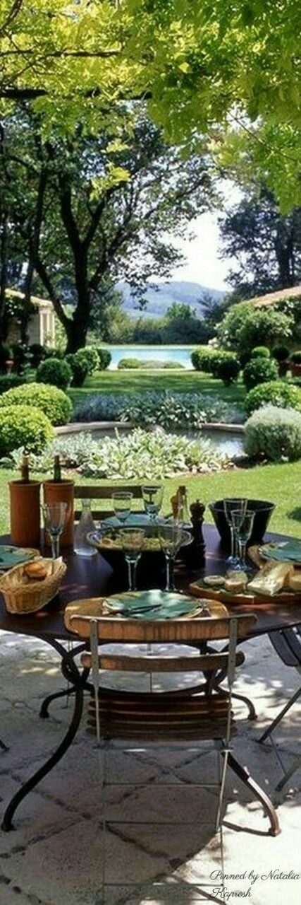 Garden Lanai, then Outdoor Pond leading to the swimming pool, French Country Perfection.