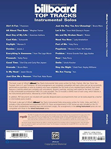 Billboard Top Tracks Instrumental Solos: Clarinet (Book & CD) (Instrumental Solos Series)