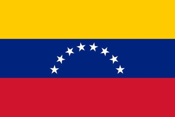Venezuela World Country National Flags 18x12 Vinyl Print Poster Venezuela Flag Venezuelan Flag Flag