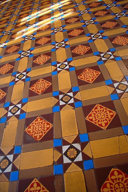 This is a floor in Dundurn Castle, in Hamilton.