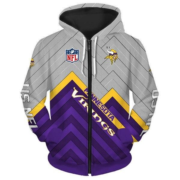new concept b728f b4a1a Minnesota Vikings Hoodie 3D cheap Football Sweatshirt ...