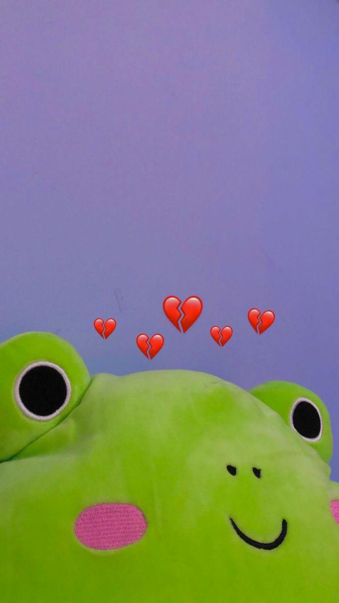 Squishmallow Frog Wallpaper In 2021 Frog Wallpaper Frog Art Aesthetic Iphone Wallpaper