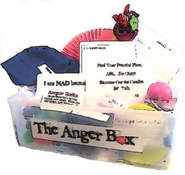 anger boxCounseling Education, Plays Therapy, Counseling Ideas, Management Activities, Anger Boxes, Classroom Management, Sensory Ideas, Feelings Boxes, Anger Management