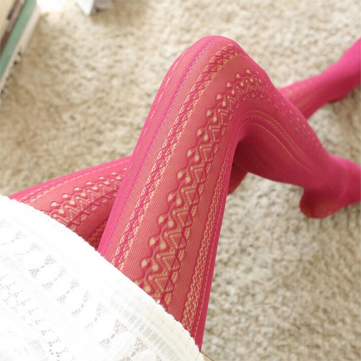 2015 Fashion Hollow Mesh Lace Vertical Strips Pantyhose Sexy Women Chiffon Tights For Female Spring Autumn
