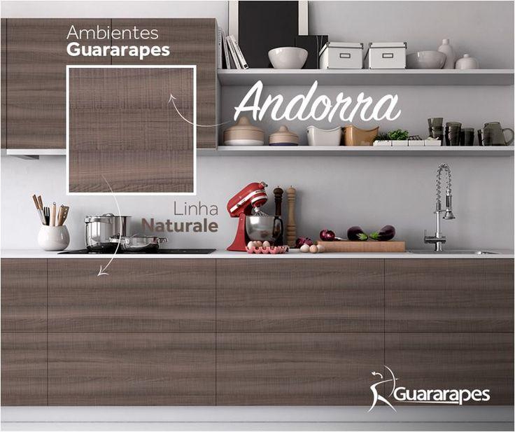 MDF Andorra   Cozinha Andorra   Linha Naturale   MDF Guararapes #MDF #decoraçãoMDF #decoração #DesignInteriores #padrõesMDF #homedecor #decoração #cozinha #decoraçãoemmadeira #peçasMDF