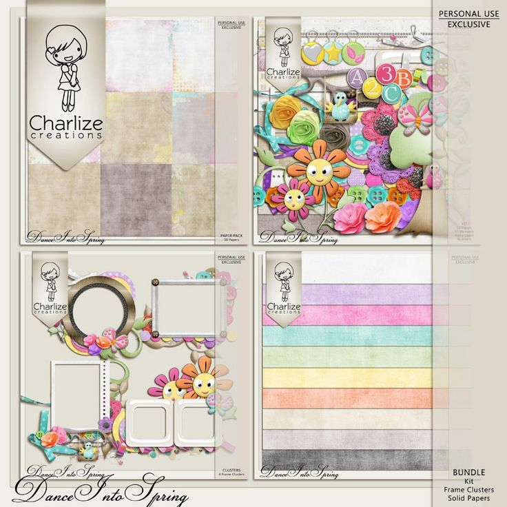 Oscraps :: Shop by Designer :: Charlize Creations :: Dance Into Spring Bundle