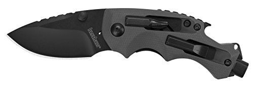 Kershaw Shuffle DIY Compact Multifunction Pocket Knife (8720), 2.4 Inch 8Cr13MoV Steel Blade with Black Oxide Coating, Every Day Utility Knife with Carbon Strength and High Tech Function, 3.5 oz. kershaw knives,  kershaw pocket knives,  kershaw tactical knives,  kershaw spring assisted knives,  where are kershaw knives made,  kershaw throwing knives,