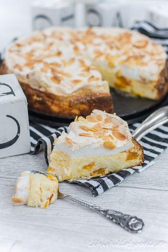 Dieser Baiser-Käsekuchen mit Mandarinen schmeckt nach Frühling. Er ist leicht, fruchtig, frisch und einfach wahnsinnig lecker!