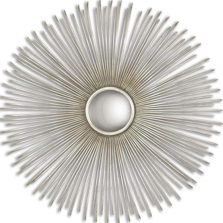Circle mirror wall decor hanging from wire