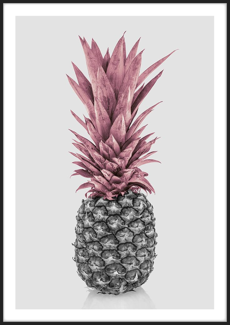 Pink Pineapple, från Insplendor tryckt med Giclée Fine Art Print-teknik