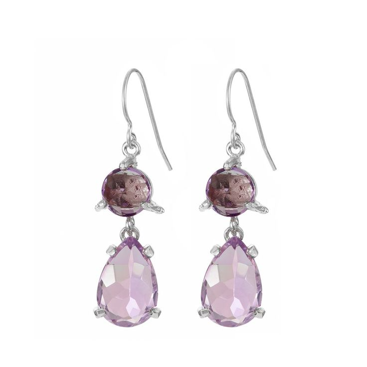 In The Wild Earrings Amethyst in Silver