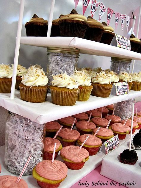 Lady Behind The Curtain - DIY Cupcake Stand