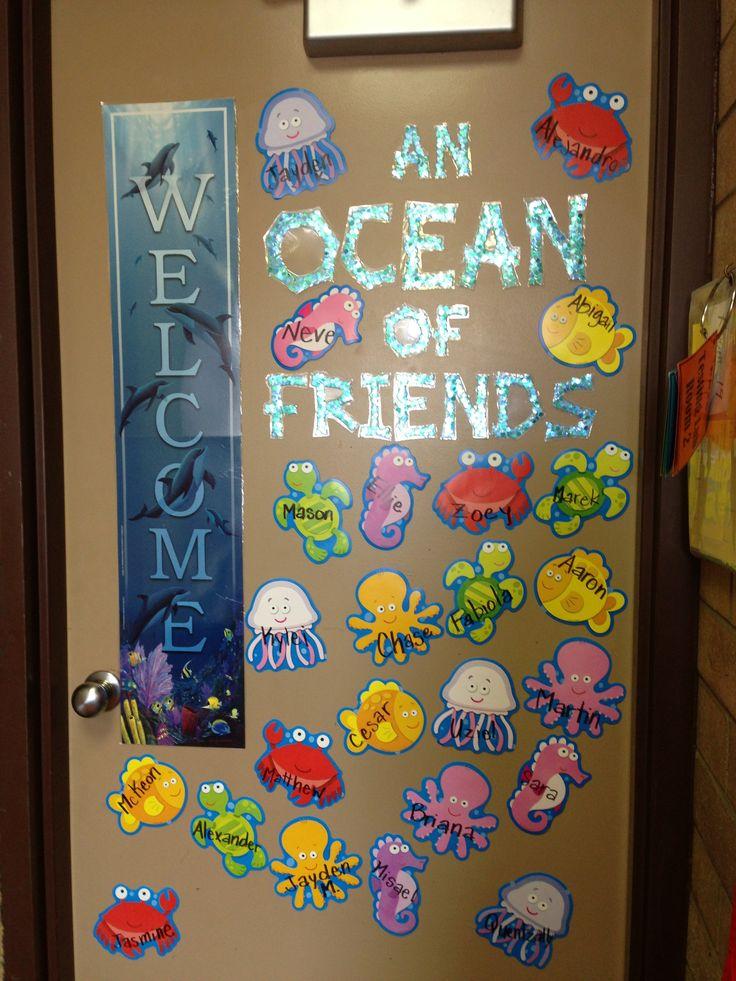 Classroom Door Design ~ Best rainbow fish kindergarten images on pinterest