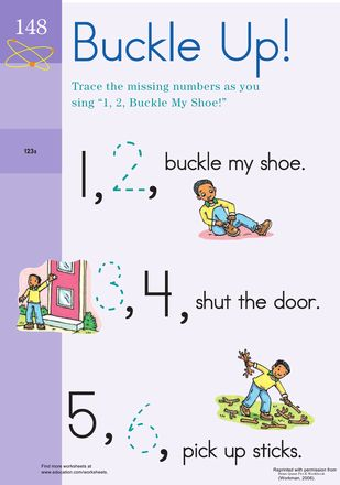 7 Best Images About Prek K 1 2 Buckle My Shoe On Pinterest Good Fats Curriculum And Coloring