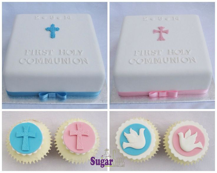 First Holy Communion cakes and cupcakes.