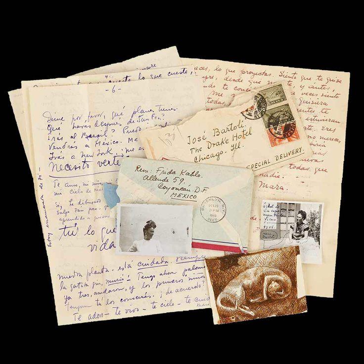 """Dalle tenere e passionali lettere di Frida Kahlo all'amante José Bartoli.  """"Per te ho ricominciato a vivere, a dipingere, ad essere felice, a mangiare meglio per essere forte così che tu potessi trovarmi bella, un po' nel modo in cui ero prima [...] Mio Bartoli-Jose-Giuseppe-[segue]""""  #fridakahlo, #josebartoli, #lettere, #passione, #amore, #italiano,"""