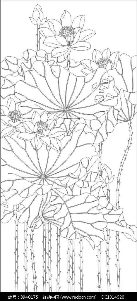 荷塘月色雕刻图案 | Silk Painting | Pinterest | Pintar, Blanco y ...