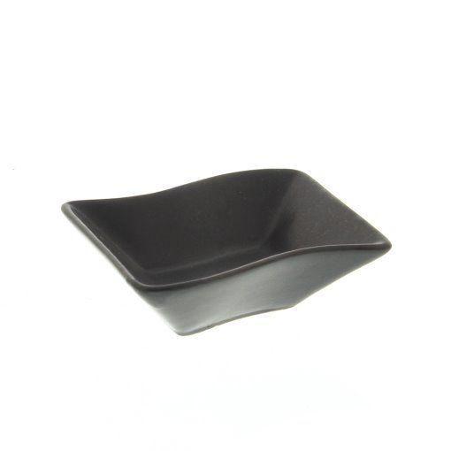 GreenLeaf Ceramic Napkin Tray � Matt Black, Set of 4