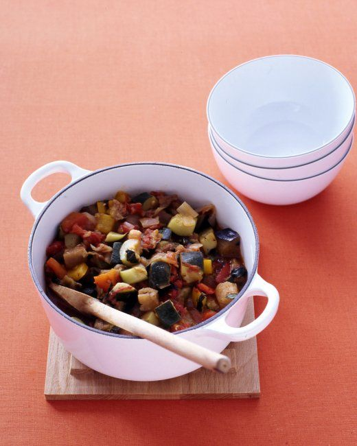 This ratatouille from Martha Stewart is very easy: just chop ...