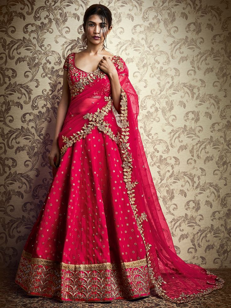 Magenta alluring silk lehenga choli bridal lehenga choli for Design wedding dress online